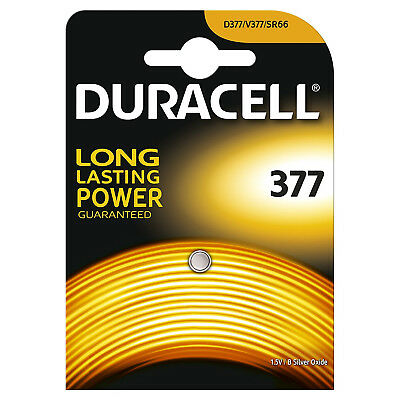 50 x Duracell 377 1.5v Silver Oxide Watch Battery Batteries SR626SW AG4 626 D377