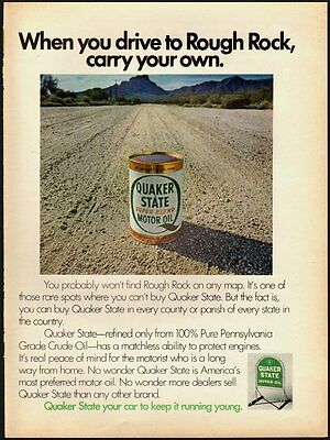 1971 Vintage ad for Quaker State Motor Oil/gravel road/  (031613)