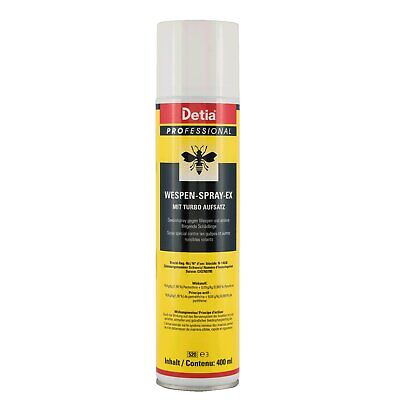 Detia Professional Wespen-Spray-Ex 400ml Wespen Bekämpfung Wespengift Turbo Nest