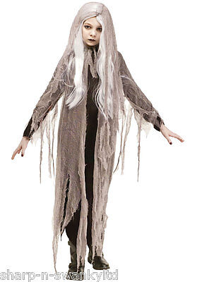 Child's Girls Gauze Ghost Zombie with Wig Halloween Fancy Dress Costume Outfit
