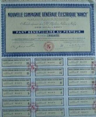 France 1957 Bond With 18 Coupons Electric