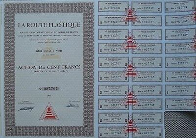 France 1963 Bond With 28 Coupons For Plastic Product