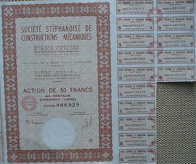 France Bond With 5 Coupons For Mechanical Construction 2