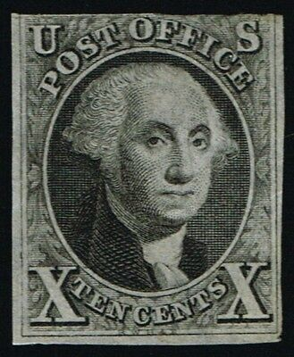 CKStamps: US Stamps Collection Scott#2 10c Washington Unused NG with Cert $15000