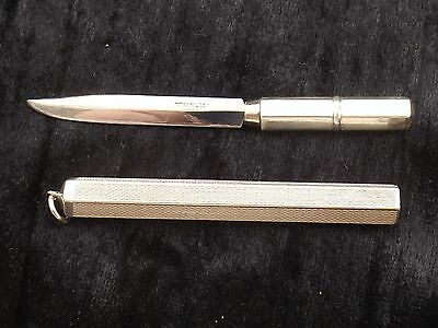 Sterling Silver Fruit Knife or Fob in two parts by WALKER & HALL