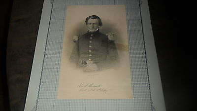 U S Grant - Engraving  A. H.  Ritchie  - Torn And Taped  4 1/2 X 7 + Civil War