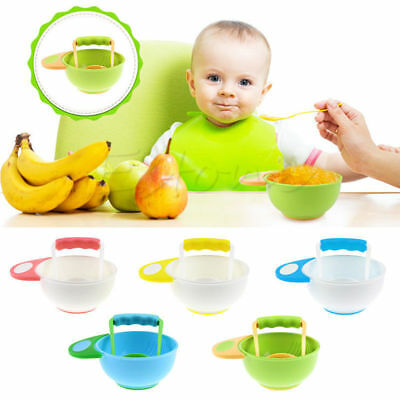 Infant Baby Learn Dishes Grinding Bowl Kids Child Handmade Grinding Food Mill