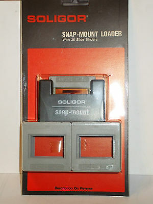 Aic Soligor Snap-Mount Loader W/ 36 Slide Binders - New #fr288