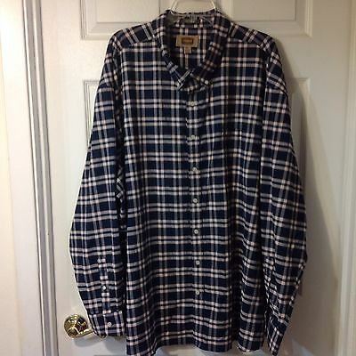 Foundry Mens Long Sleeve Button Front Shirt, Size 4Xlarge