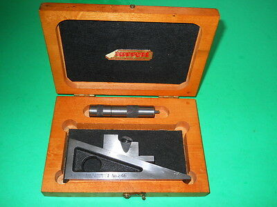 Starrett NO. 246 Planer & Shaper gage in wood case. EXCELLENT, READY TO USE!