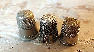 Lot 3 (1)Sterling Silver MKD Ketcham McDougall Vintage 7 Thimble  plus 2 others