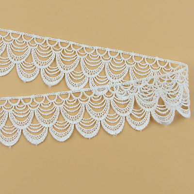 3 Yds Lace Trim Ribbon For Wedding Bridal Dress Embroidered Sewing Craft DIY