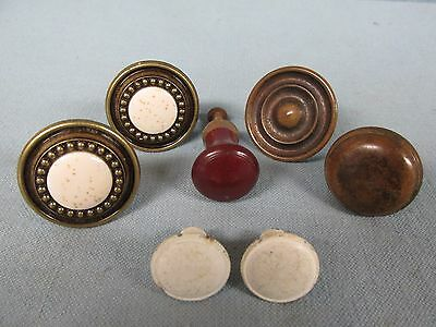 Vintage Mixed Lot 7 Knobs Desk Dresser Drawer Pulls ~ Includes 2 Pairs ~ Lot 59