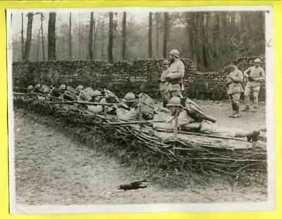 WWII French Infantry in Firing Line Original Press Photo