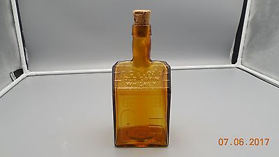 Wheaton E.c. Booz's Old Cabin Whiskey Amber Bottle With Cork Stopper