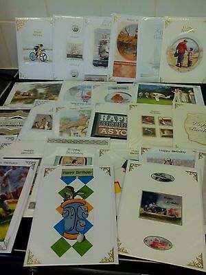 Job Lot 50 X Hand Crafted Hand Made Birthday Cards Mens Boys Carboot Resale New