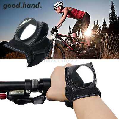 Cycling Bicycle Bike Rearview Back eye Mirror Wrist Guards Wristbands Motorcycle
