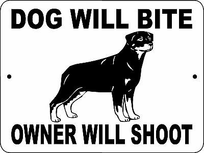 "ROTTWEILER  DOG SIGN, 9""x12""  ALUMINUM,Guard Dog sign,Security,Decal,dwbowsrott"