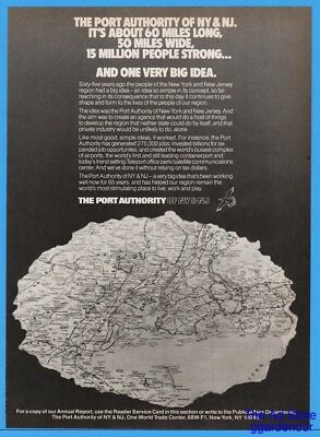 1986 Port Authority Of New York & New Jersey Map  Print Ad