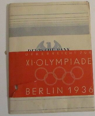 Extremelly rare Duetsche Bank Berlin 1936  Hitlers German Olympics Guide Map