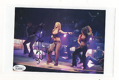 Britney Spears signed 5 1/2 x 8 1/2 concert photo - JSA 100% REAL!
