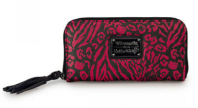 de62003d5 New LOUNGEFLY HELLO KITTY Animal Print Wallet SANRIO Leopard Tassel BLACK  PINK