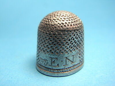 British Late 17th Century Stuart Period Solid Silver Restored Thimble. (A1022)