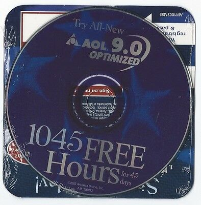 2003 Aol America Online 9.0 Optimized 1045 Cd