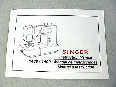 SINGER 4040 SEWING Machine Owners Instruction Manual 4040 Simple Singer Sewing Machine 1409 Manual