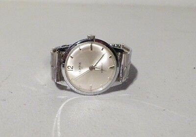 Vintage Mens Clinton 17 Jewel Swiss Mid Size Mechanical Functioning Watch