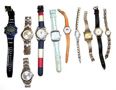 WATCH/WATCHES Set Of 10 Men's & Women's Used For Parts/Repair Steampunk LOT 101