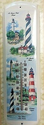 Cape Lighthouses In The US,Beach,River,Ocean-Metal Thermometer`New->Free To US