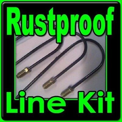 Rustproof metal brake line kit  Chevy II Nova w/ manual drum brakes 1967-1974