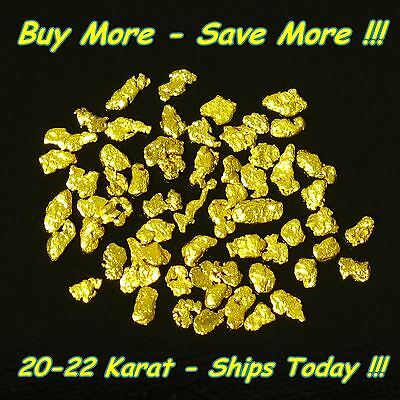 .440 Gram Placer Gold Panned Natrual Raw Alaskan Nugget Flakes Fines From Alaska