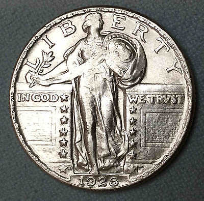 1926 d Standing Liberty Quarter AU Nice FREE SHIPPING