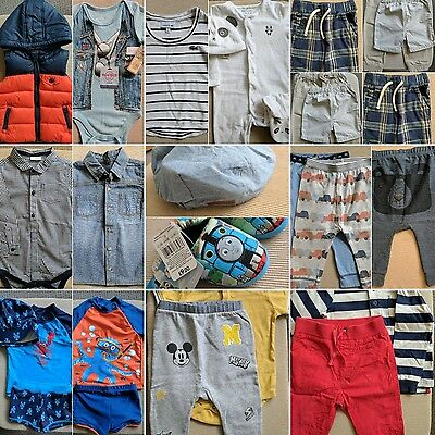 Baby Boy Clothes Bundle 6-9, 9-12, 12-18, 18-24 Months Next John Lewis 25 Items
