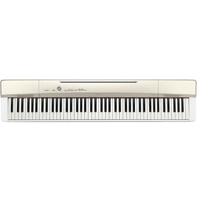Casio Privia Px160 Digital Piano 88 Weighted Keys Usb New Model White With Gold