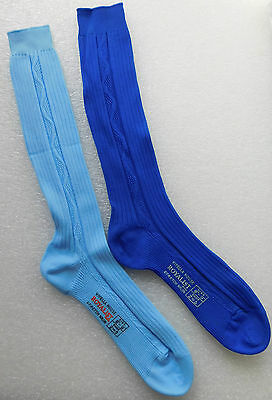Boys & girls vintage socks Blue nylon 1960s Viyella ROYALIST shoe size 2 to 5