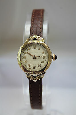BEAUTIFUL - 'GK' 18k GOLD FILLED LADIES VINTAGE WATCH - SERVICED! -  NO RESERVE!
