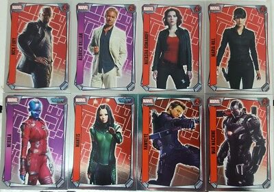 MARVEL MISSIONS  HERO ATTAX  2017 Trading Card MIRROR FOIL  Set of 16