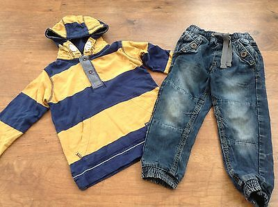 100% Next Boys Small Bundle / Outfit 3-4Yrs Hoody Jeans