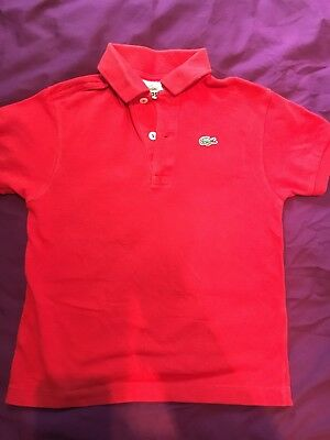 Lacoste Boys Red Polo Age 6