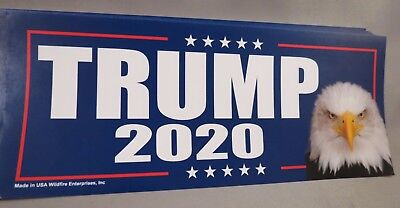 Wholesale Lot Of 10 Trump 2020 Campaign Sticker Eagle Re-Elect Decal '16 Donald
