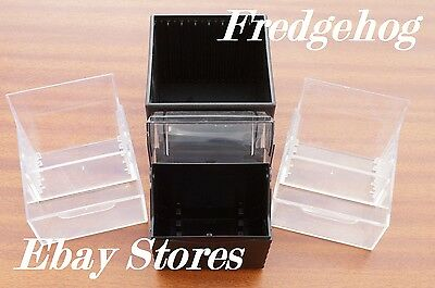 A PACK OF 4 x MINI DISC STORAGE CASES / BOXES - ALL IN GOOD CONDITION