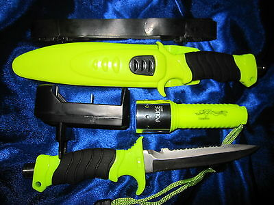2in1 Tauchermesser + Tauchlampe Lampe Messer Tauchen Diver Torch Knife Rescue