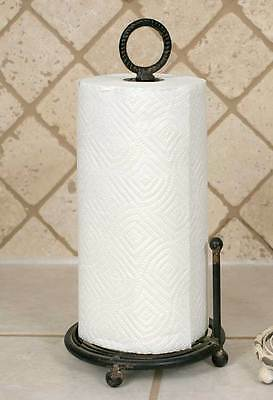 Country new distressed black metal counter Provincial PAPER TOWEL holder / NICE