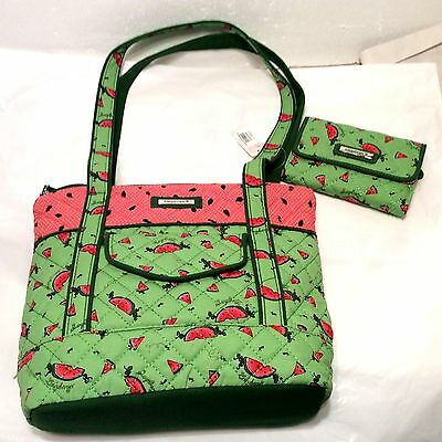 Longaberger Quilted WALLET & PURSE Shoulder Tote Mother Day Watermelon NEW