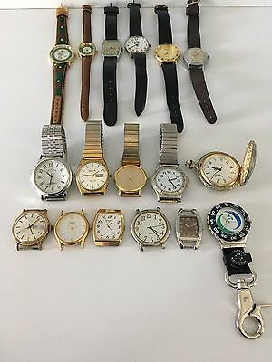 Mixed Lot of 16 Watches / Watch Faces - Old & Vintage & New