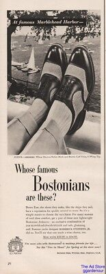 1954 Bostonian Two Tone Oxford Mesh Shoes Marblehead Harbor Roderick Stephens Ad