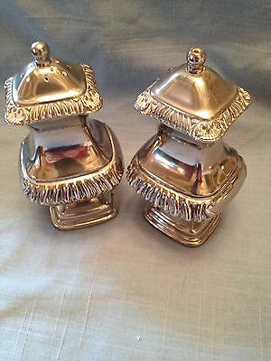 Vintage silver plated salt and pepper pots
